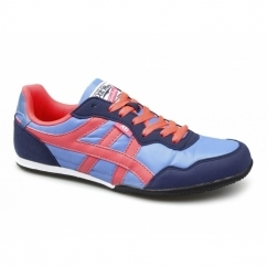 CASON Mens Nylon/Faux Suede Running Shoes Blue/Coral