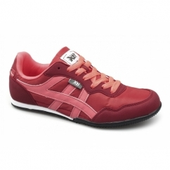CASEY Ladies Nylon/Faux Suede Running Shoes Red/Coral