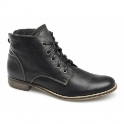 YVETTE Ladies Soft Leather Boots Black