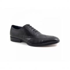 PARMA Mens Leather Brogue Shoes Black