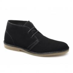 SEL SHLEON H Mens Suede Desert Boots Black