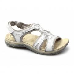 CAROLINA 2 Ladies Suede Velcro Sports Sandals White