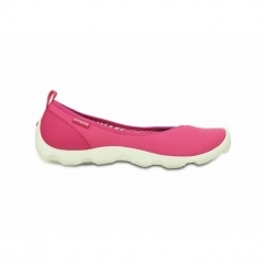 DUET BUSY DAY FLAT Ladies Walking Trainers Pink/White