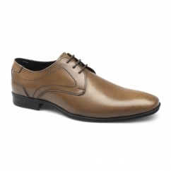 BENEDICT Mens Leather Derby Lace Up Shoes Tan