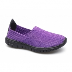 RAFT Ladies Slip-On Walking Trainers Purple