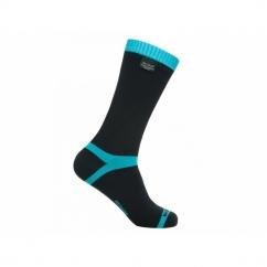 COOLVENT Unisex Mid Calf Waterproof Socks Black/Blue