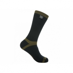 TREKKING Unisex Mid Calf Waterproof Socks Black/Olive