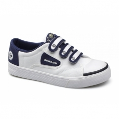 GREEN FLASH Unisex Velcro Retro Trainers White/Navy