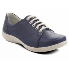 JESSICA Ladies EEE/EEEE Wide Dual Fit Shoes Navy