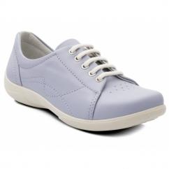 JESSICA Ladies EEE/EEEE Wide Dual Fit Shoes Light Blue