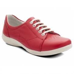 JESSICA Ladies EEE/EEEE Wide Dual Fit Shoes Red