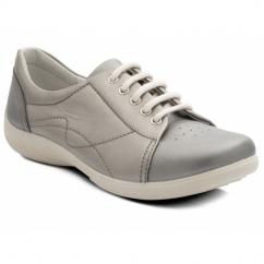JESSICA Ladies EEE/EEEE Wide Dual Fit Shoes Metallic