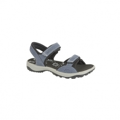 STACEY Ladies Velcro Nubuck Sports Sandals Navy