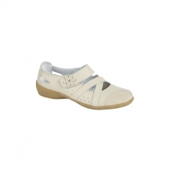 SOPHIE Ladies Mary Jane Strap Summer Shoes Beige
