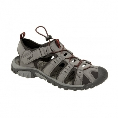 KEN Boys Nubuck Toggle & Velcro Summer Trail Sandals Grey/Red