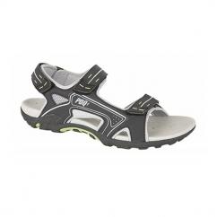 DAN Mens PU Velcro Sports Sandal Black/Lime