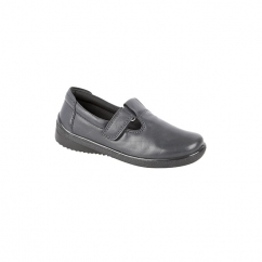LINA Ladies T-Bar Velcro Padded Shoes Navy