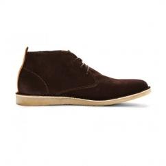 JJ DARAN Mens Suede Desert Boots Brown Stone
