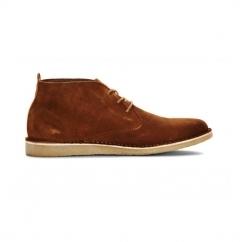 JJ DARAN Mens Suede Desert Boots Cognac