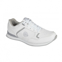 KITTY Ladies Lace Up Bowling Shoes/Trainers White/Grey