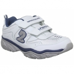 Ragged-Dox Boys Leather Velcro Trainers White/Navy