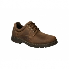 OUTLAW Mens Lace Up Dual Fit Nubuck Oxford Shoes Brown