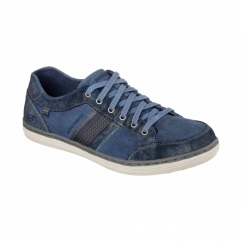 SORINO OSTIO Mens Canvas/Suede Lace-Up Trainers Navy