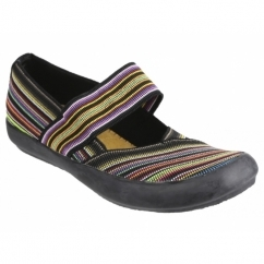 CHEDWORTH Ladies Canvas Slip-On Shoes Multi/Black