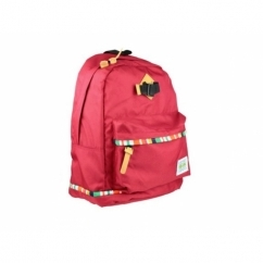 DECO LINES Unisex Backpack Red