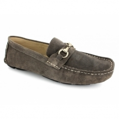 3635 Mens Suede Driving Loafers Grey