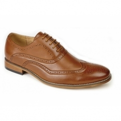 TOMMY Boys Lace Up Brogue Oxford Shoes Tan