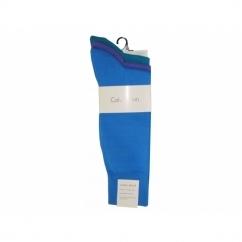 HARPER Mens Cotton Socks 3 Pack Blue/Purple/Teal