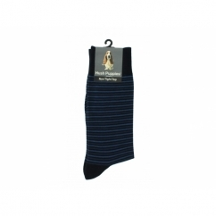 TONAL STRIPE Mens Cotton Socks Navy