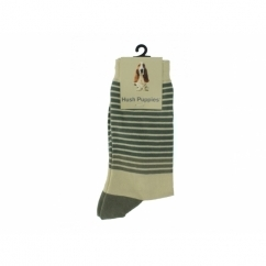 STRIPES Ladies Cotton Socks Grey