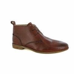 PLAYER FUR Mens Leather Chukka Boots Tan