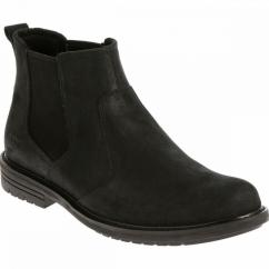 NOLAN Mens Leather Chelsea Boots Black
