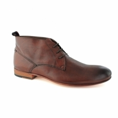 RAVEN Mens Leather Chukka Boots Tan