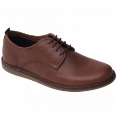 JAKE Mens Leather Lace-Up Wide (G) Casual Shoes Tan