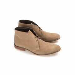 NEWTON Mens Leather Chukka Boots Taupe