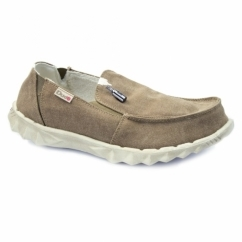 FARTY CHALET Mens Canvas Shoes Coffee