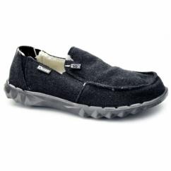 FARTY CHALET Mens Felt Shoes Black Felt
