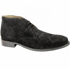 HARRISON Mens Suede Chukka Boots Black
