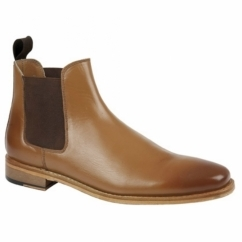 TED Mens Leather Chelsea Boots Tan