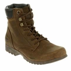 RHONDA WP Ladies Leather Waterproof Boots Brown Sugar
