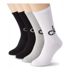 ALEXEI Mens Bright Logo Socks Crew Bag Grey/Black