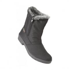 BIANCO Zip Snow Boots Black