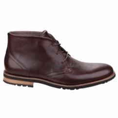 LEDGE HILL 2 Mens Lace Leather Chukka Boots Dark Brown