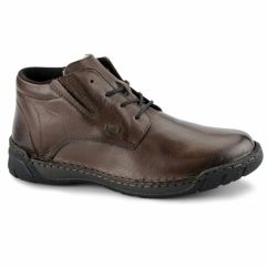 B0341-25 TEX Mens Extra Wide Warm Lined Boots Brown