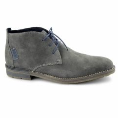 F1301 Mens Warm Suede Lace-Up Desert Boots Grey