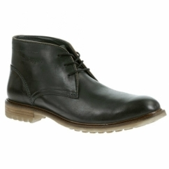 BENSON RIGBY Mens Wide Fit Chukka Boots Black